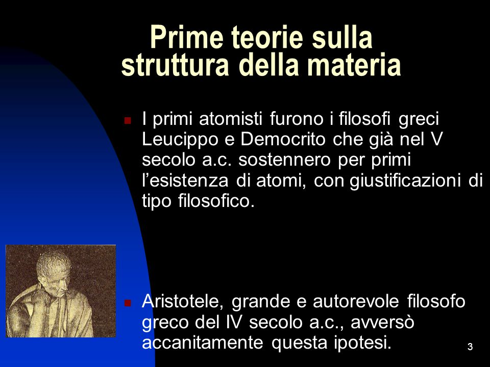 Prime teorie sulla struttura della materia