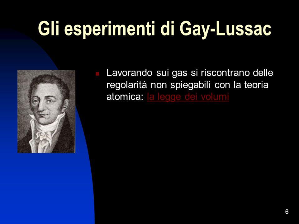Gli esperimenti di Gay-Lussac