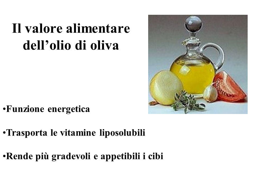 Il valore alimentare dell'olio di oliva