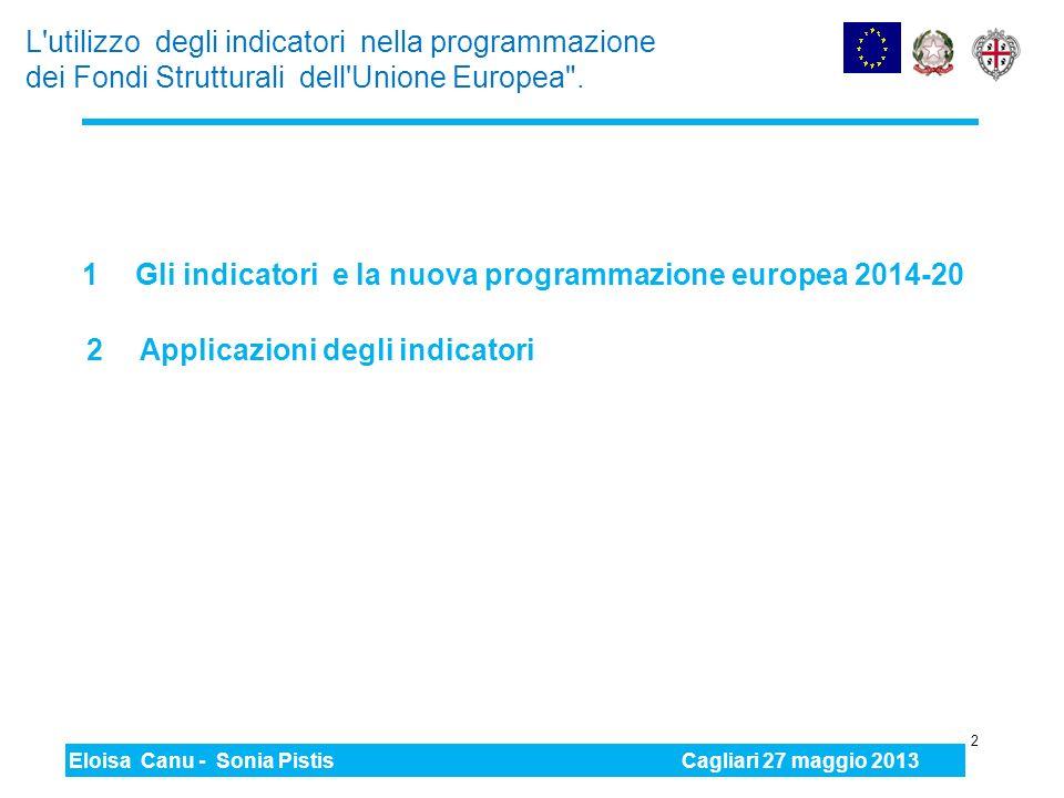 Gli indicatori e la nuova programmazione europea 2014-20