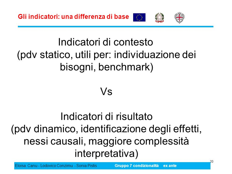 Gli indicatori: una differenza di base