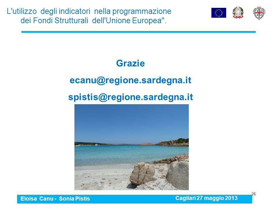 Grazie ecanu@regione.sardegna.it