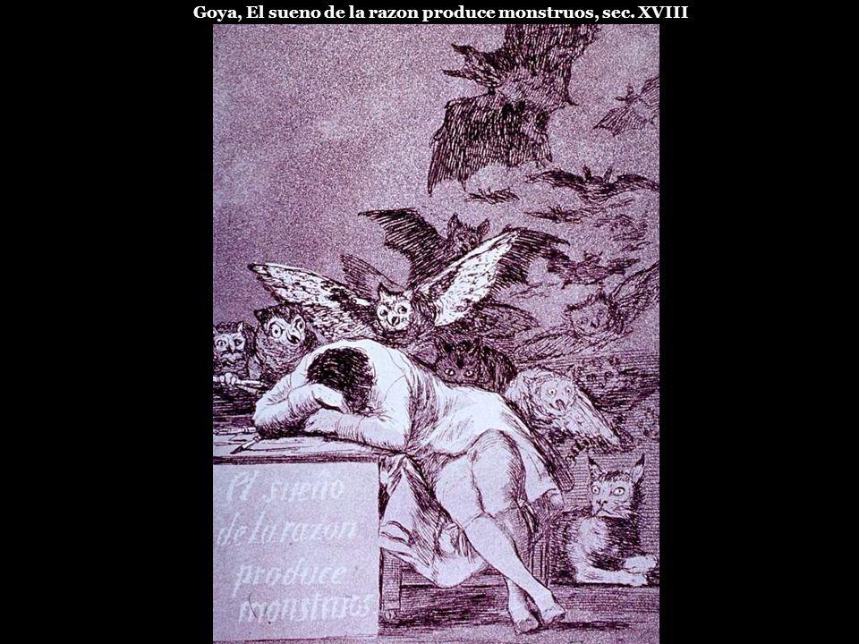 Goya, El sueno de la razon produce monstruos, sec. XVIII