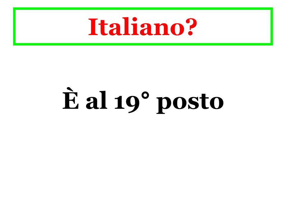 Italiano È al 19° posto