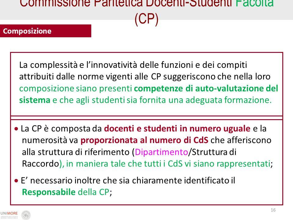 Commissione Paritetica Docenti-Studenti Facoltà (CP)