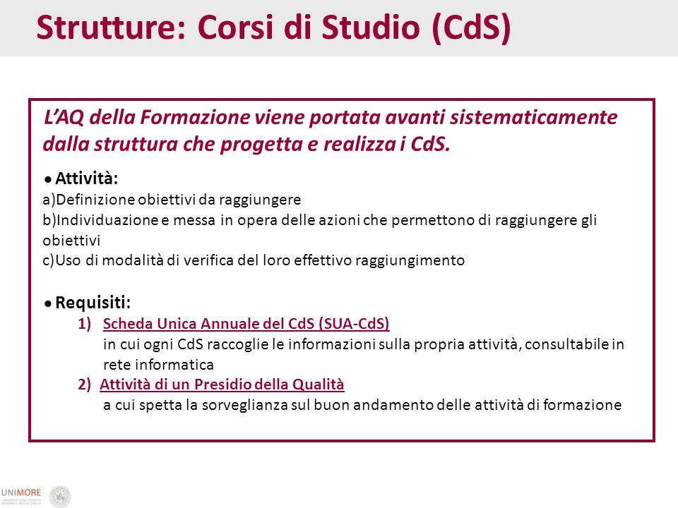 Strutture: Corsi di Studio (CdS)