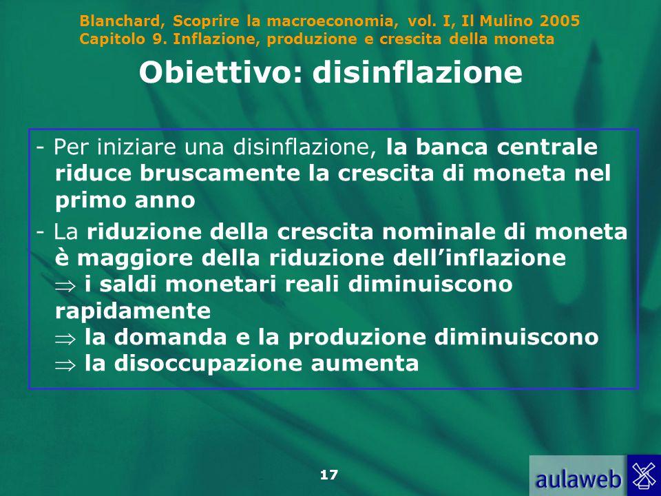 Obiettivo: disinflazione