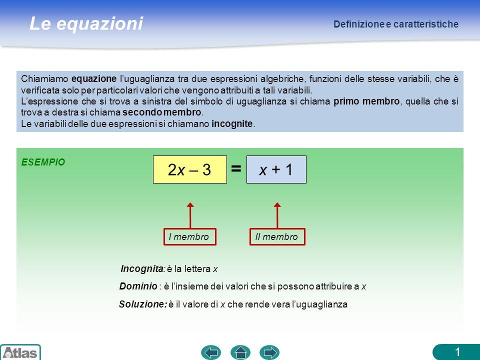 = 2x – 3 x + 1 1 Definizione e caratteristiche