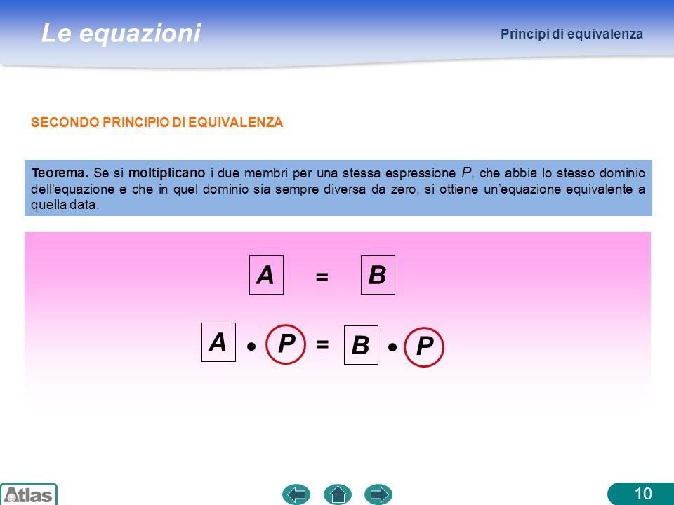 A B A P B P = = 10 Principi di equivalenza