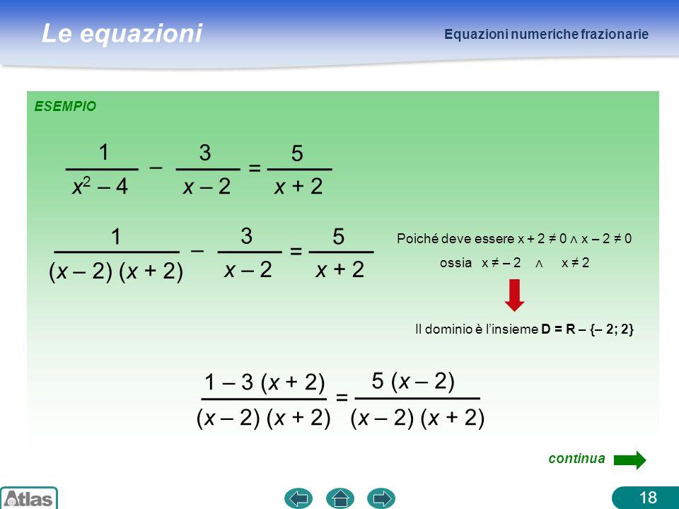 1 x2 – 4 – 3 x – 2 = 5 x + 2 1 (x – 2) (x + 2) – 3 x – 2 = 5 x + 2