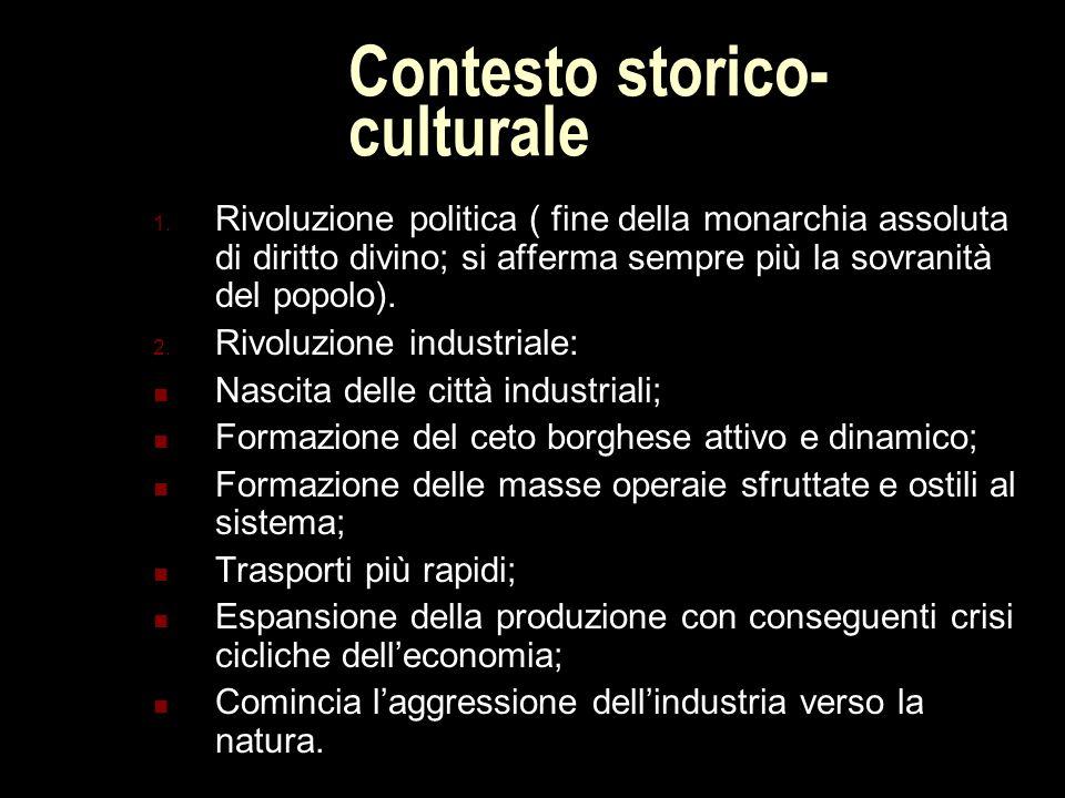 Contesto storico-culturale