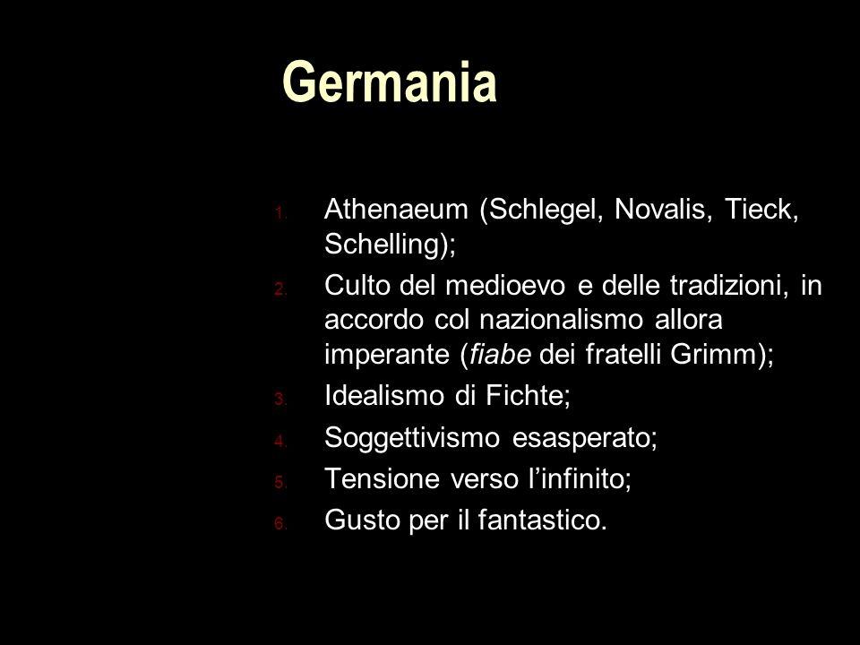 Germania Athenaeum (Schlegel, Novalis, Tieck, Schelling);