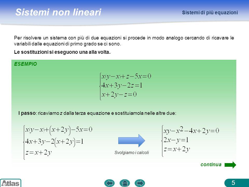 Sistemi di più equazioni