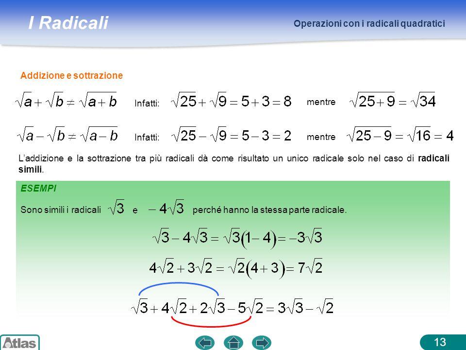 Operazioni con i radicali quadratici