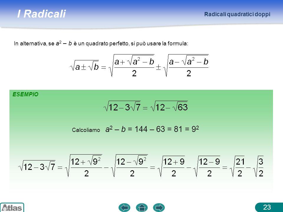 Radicali quadratici doppi