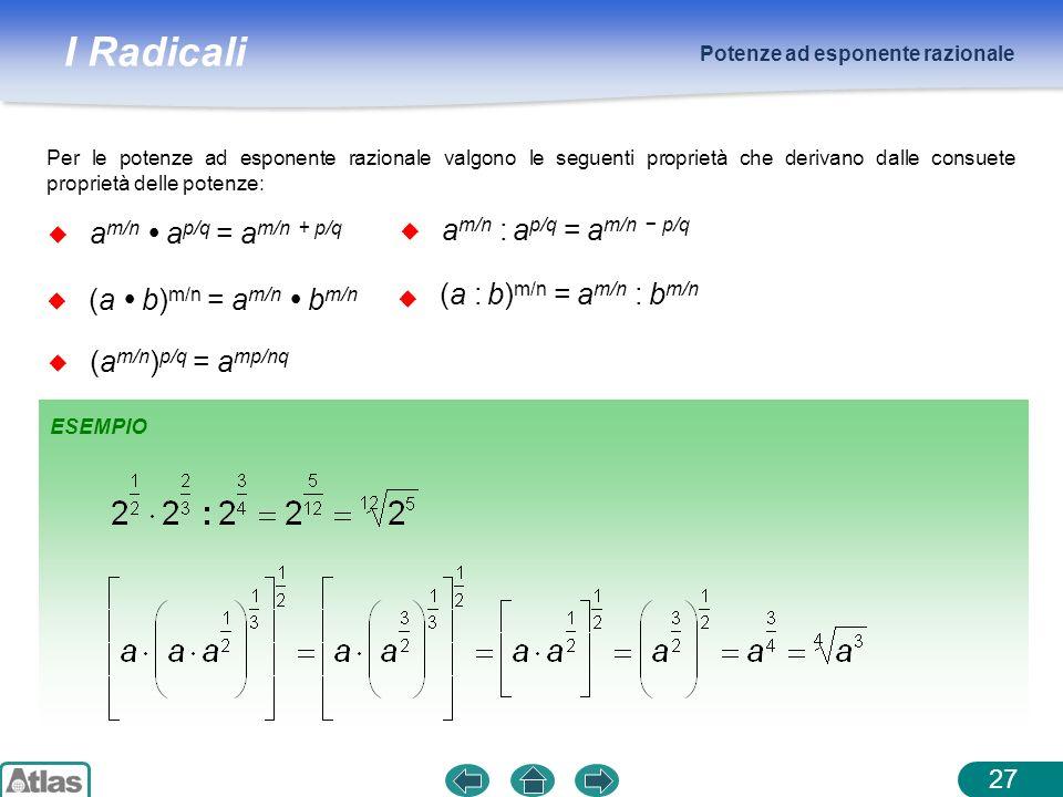 am/n : ap/q = am/n − p/q am/n  ap/q = am/n + p/q