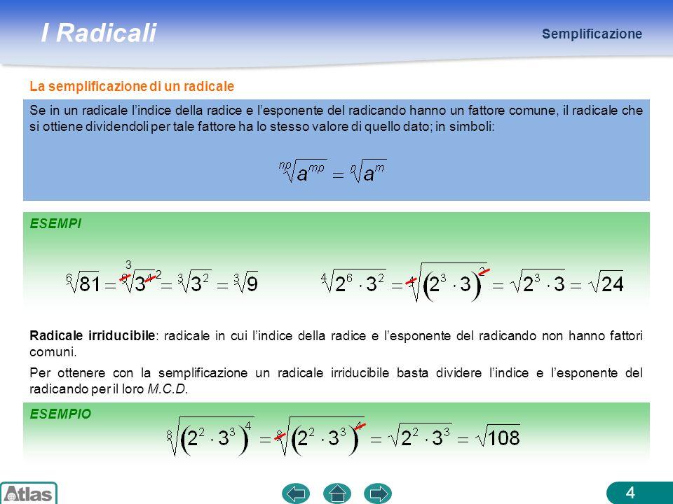 La semplificazione di un radicale