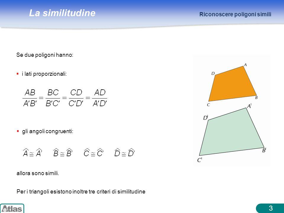 3 Riconoscere poligoni simili Se due poligoni hanno:
