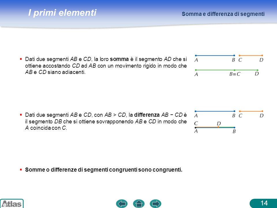 Somma e differenza di segmenti
