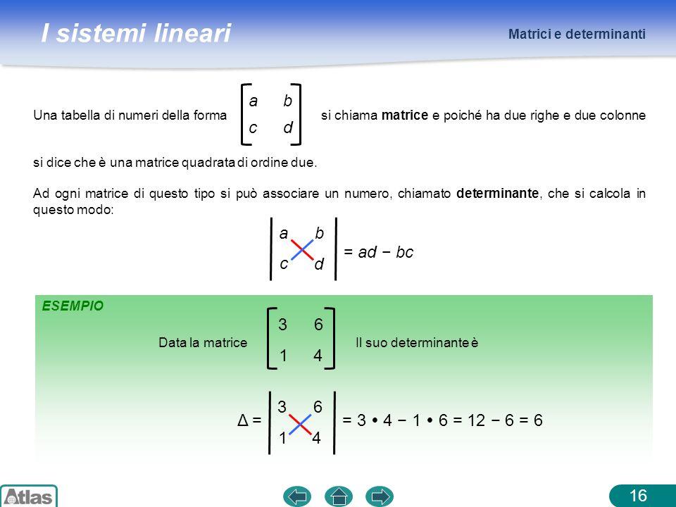 a b c d a b c d = ad − bc 3 6 1 4 3 6 1 4 = 3  4 − 1  6 = 12 − 6 = 6