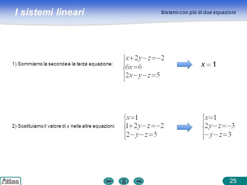 Sistemi con più di due equazioni
