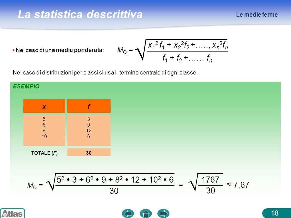 √ √ x12 f1 + x22f2 +….., xn2fn f1 + f2 +…… fn