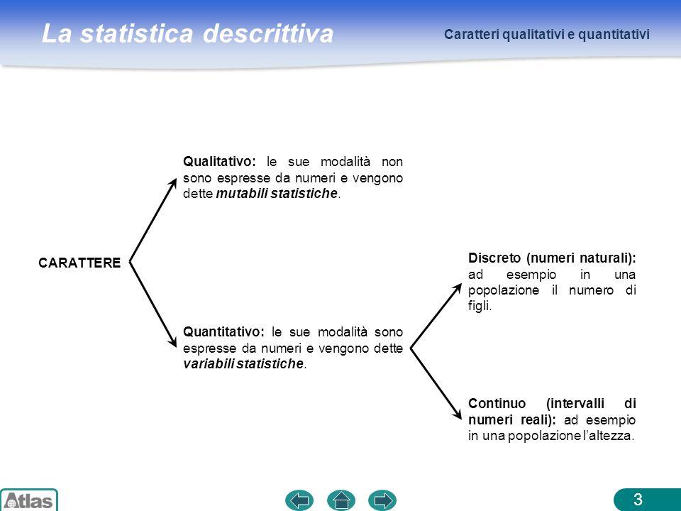 Caratteri qualitativi e quantitativi