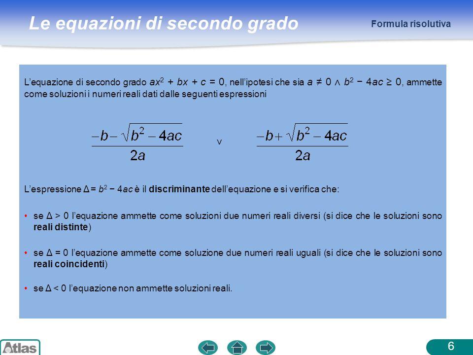 Formula risolutiva