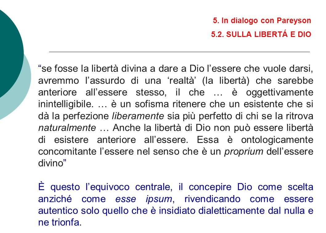 5. In dialogo con Pareyson