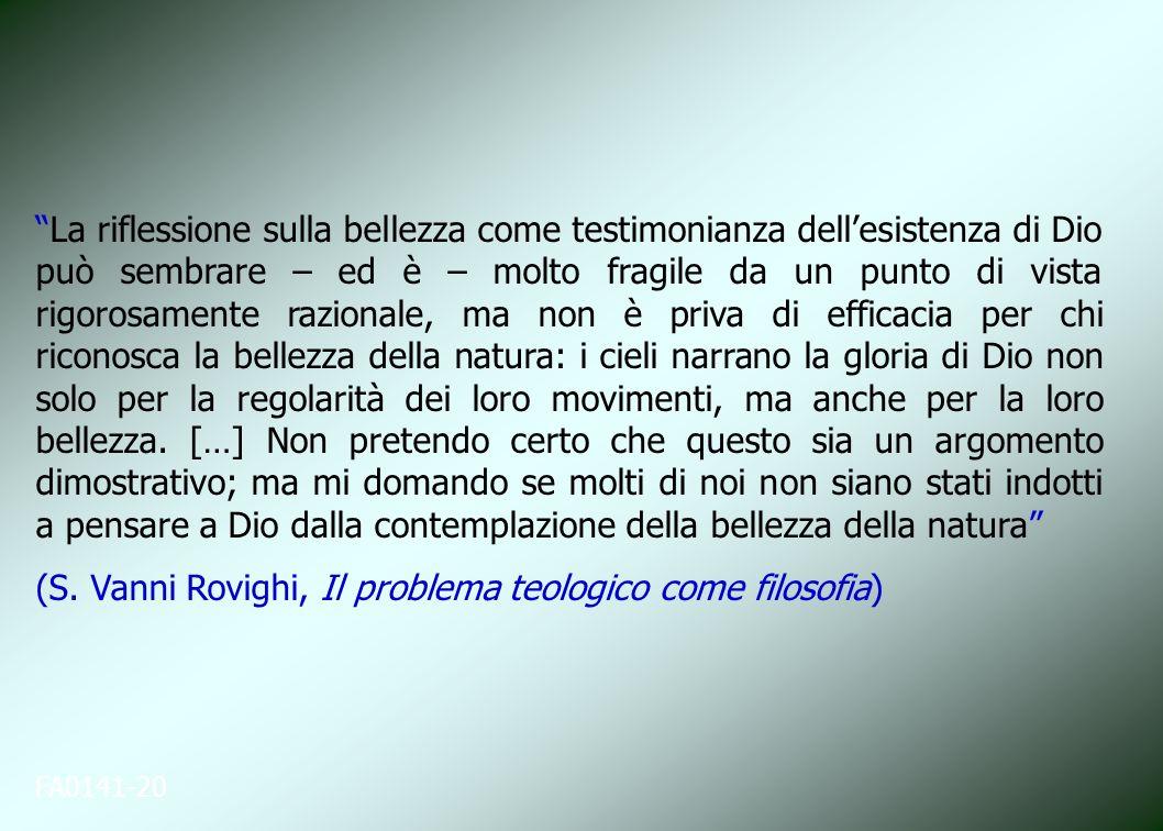 (S. Vanni Rovighi, Il problema teologico come filosofia)