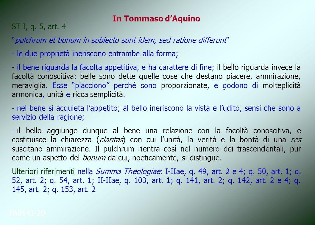In Tommaso d'Aquino ST I, q. 5, art. 4