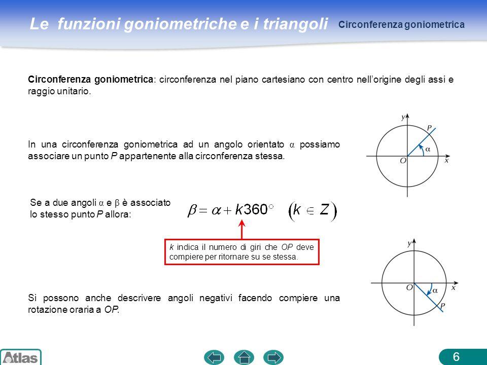 Angoli orientati negativamente se la rotazione avviene in for Punto p esterno alla circonferenza