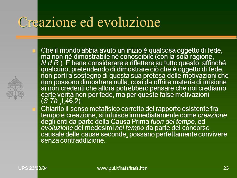 Creazione ed evoluzione
