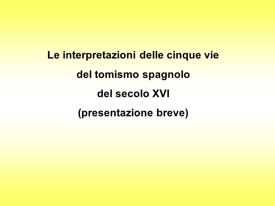 Le interpretazioni delle cinque vie (presentazione breve)