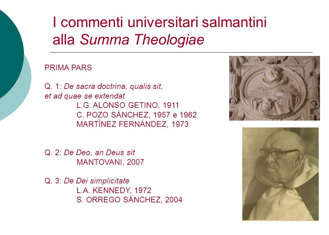 I commenti universitari salmantini alla Summa Theologiae
