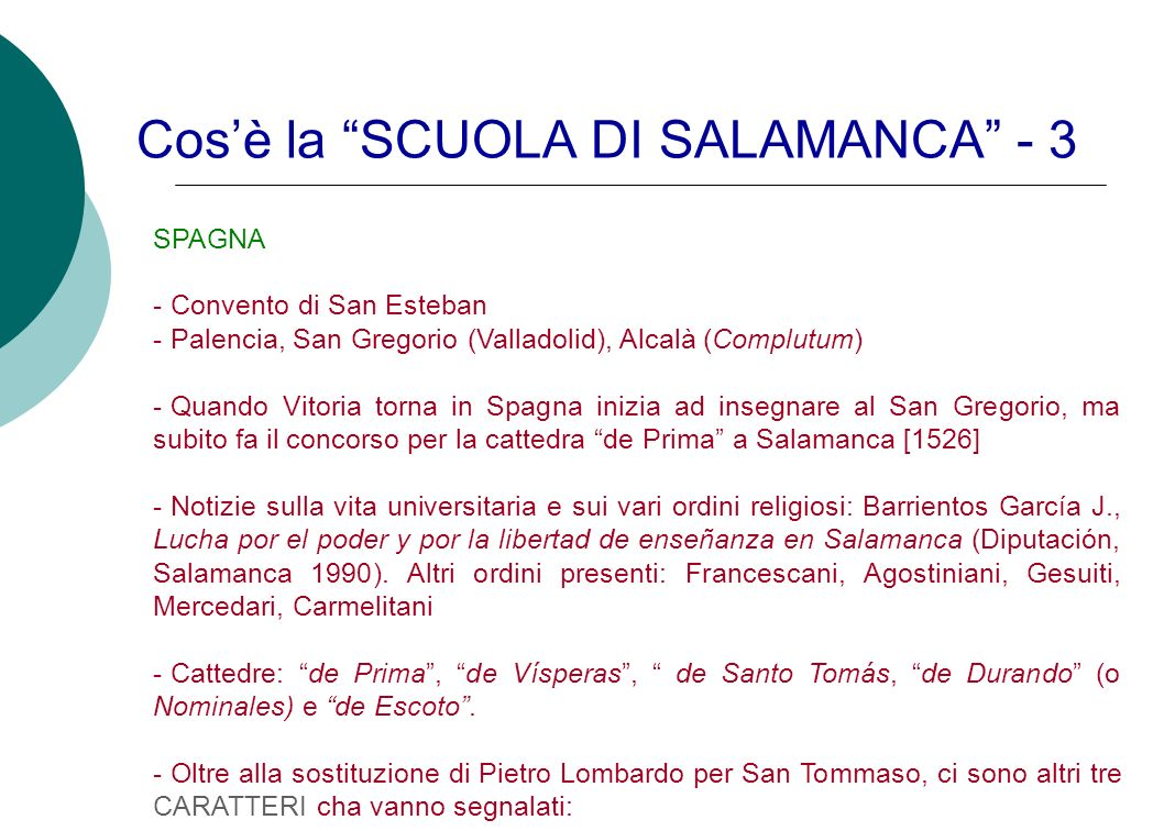 Cos'è la SCUOLA DI SALAMANCA - 3