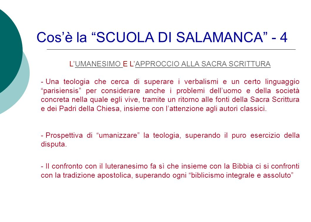 Cos'è la SCUOLA DI SALAMANCA - 4