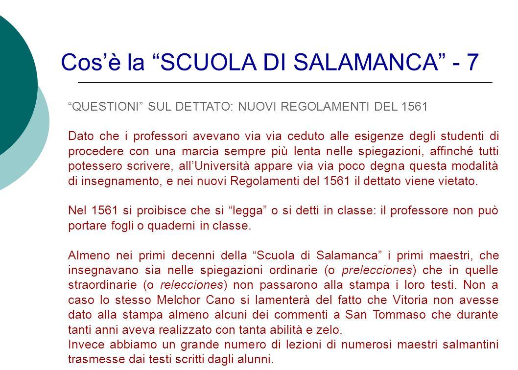 Cos'è la SCUOLA DI SALAMANCA - 7