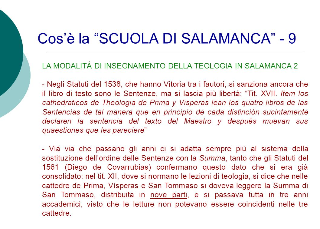 Cos'è la SCUOLA DI SALAMANCA - 9