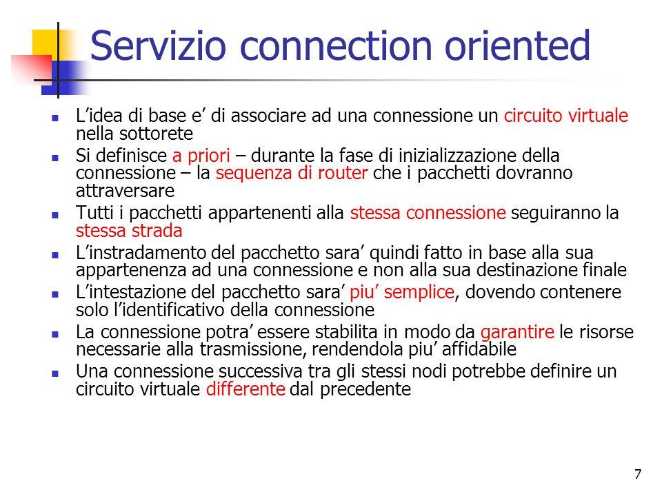 Servizio connection oriented