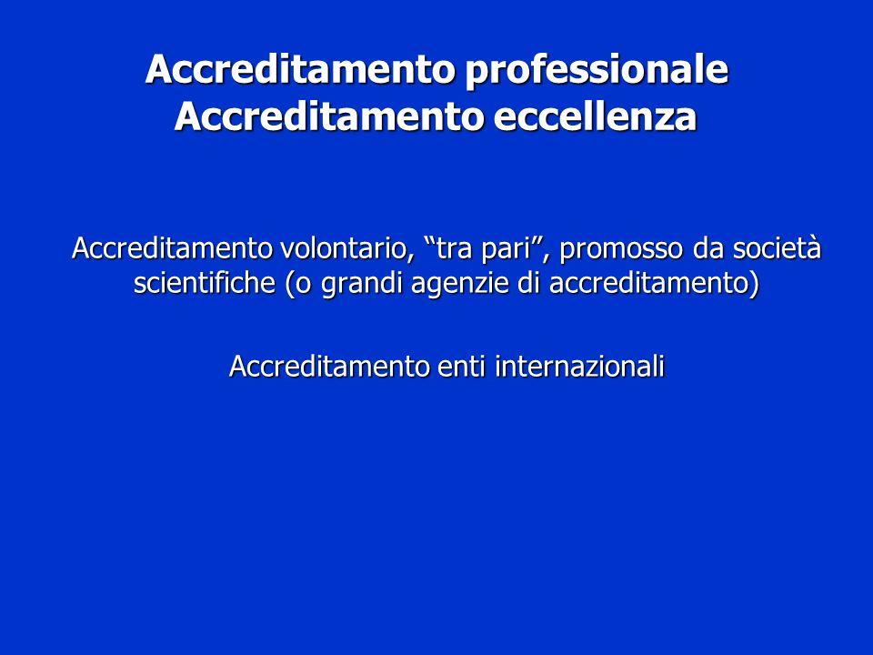 Accreditamento professionale Accreditamento eccellenza