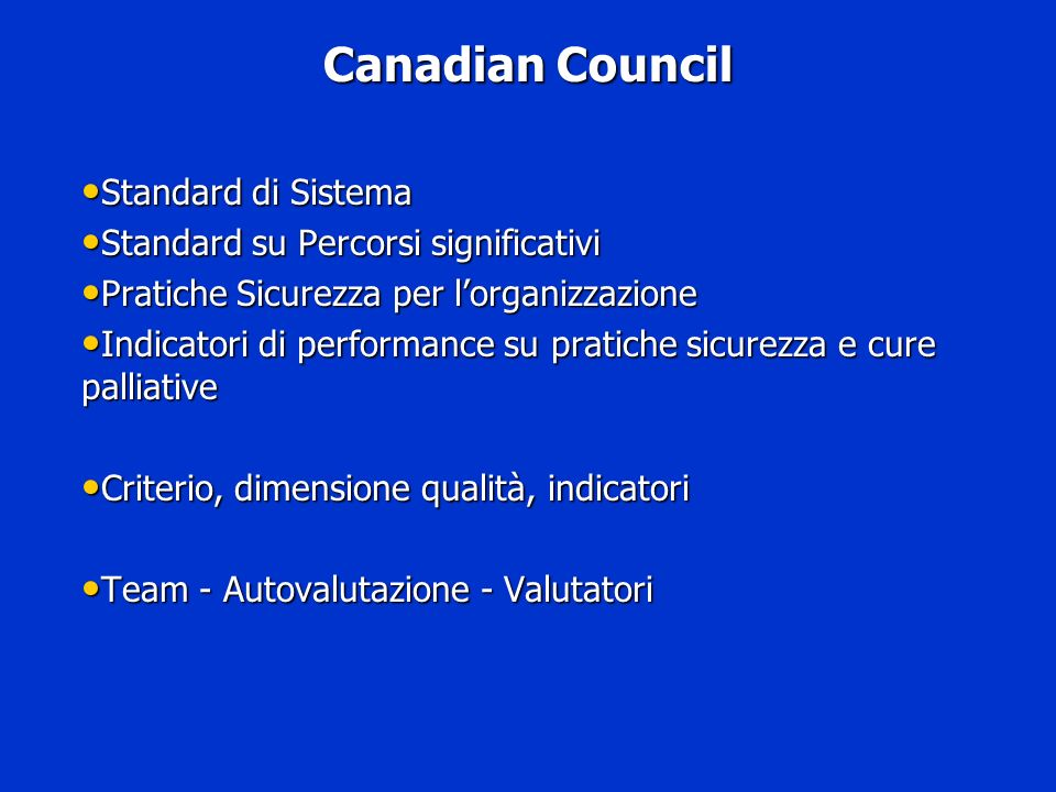 Canadian Council Standard di Sistema