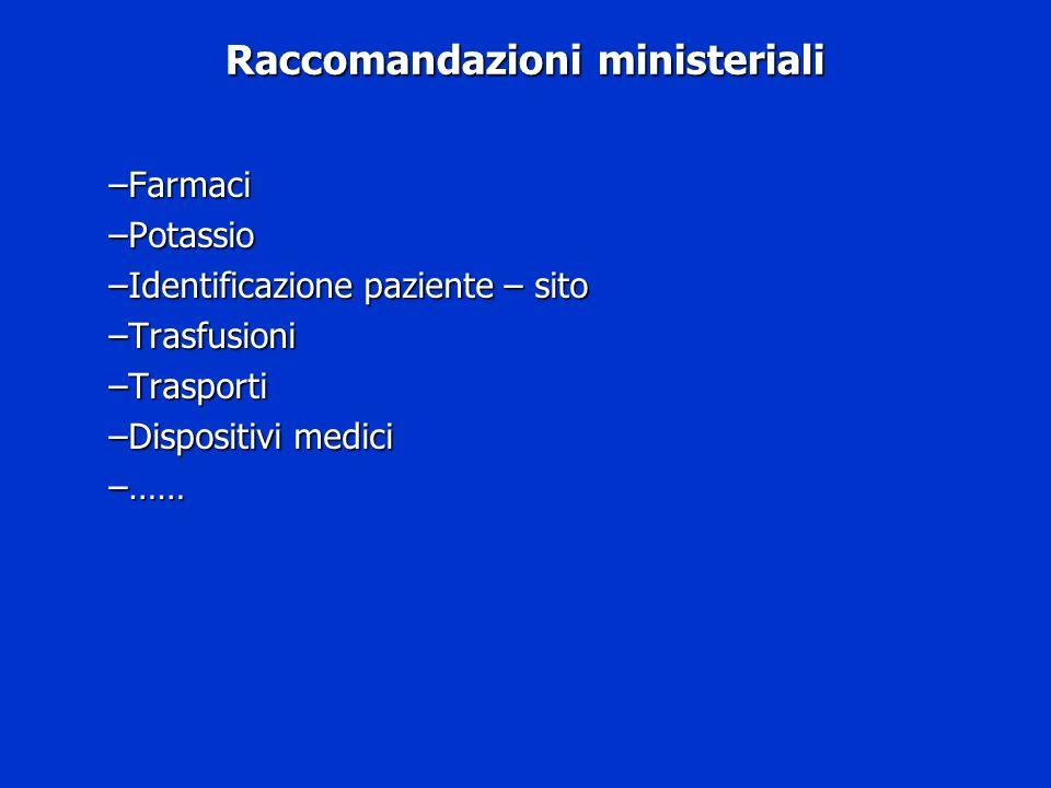 Raccomandazioni ministeriali