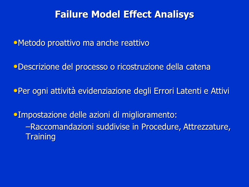 Failure Model Effect Analisys
