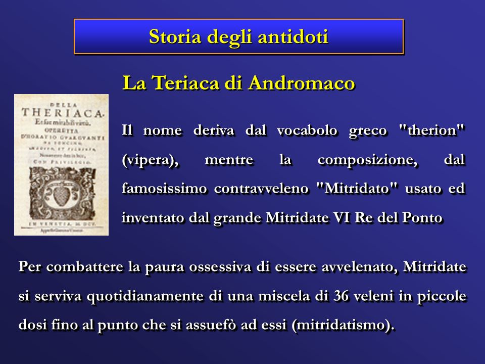 La Teriaca di Andromaco