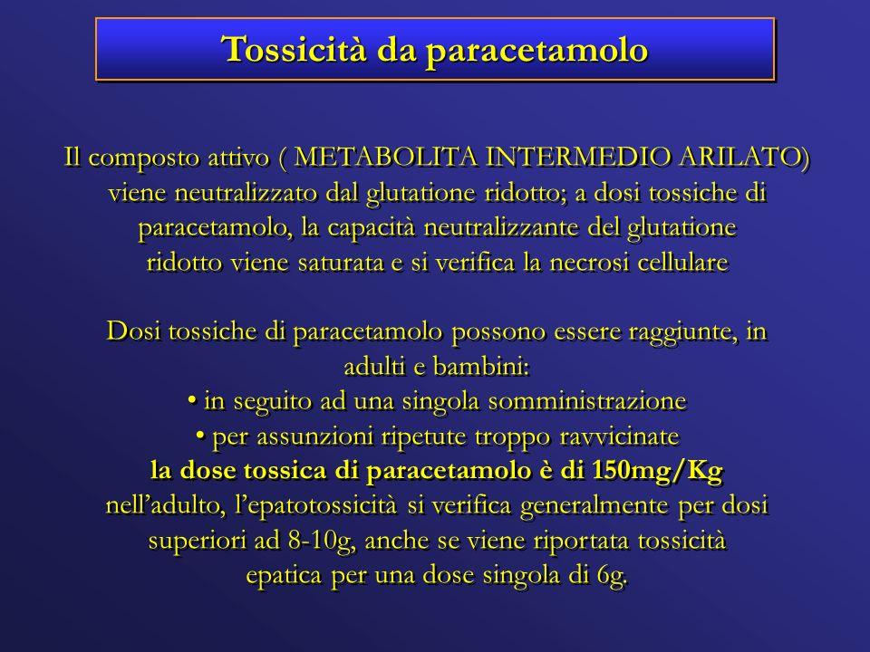 Tossicità da paracetamolo