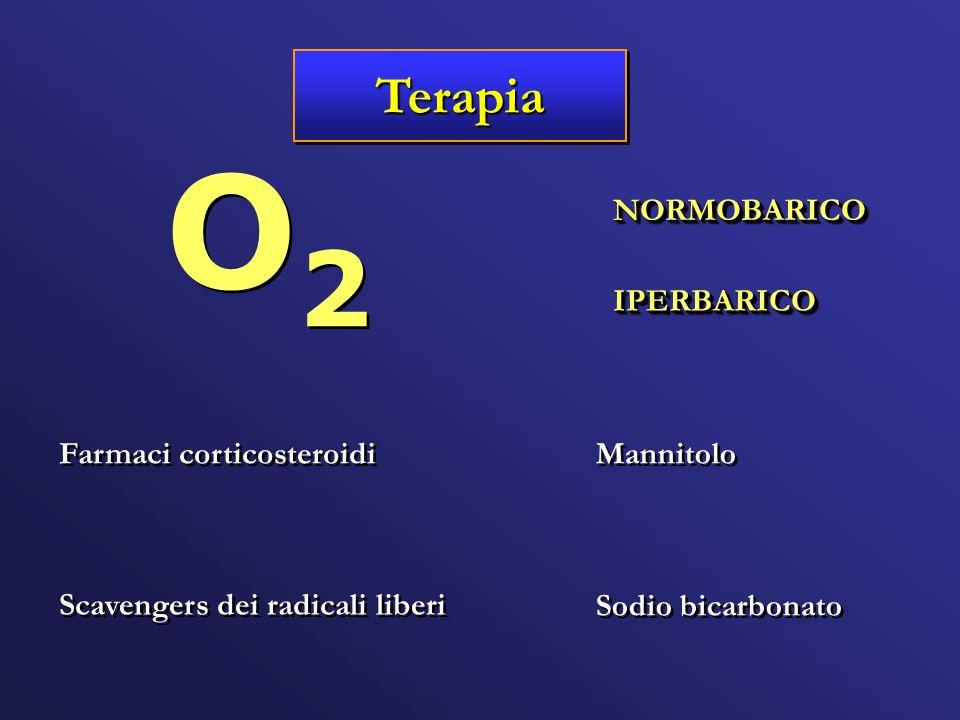 O2 Terapia NORMOBARICO IPERBARICO Farmaci corticosteroidi Mannitolo