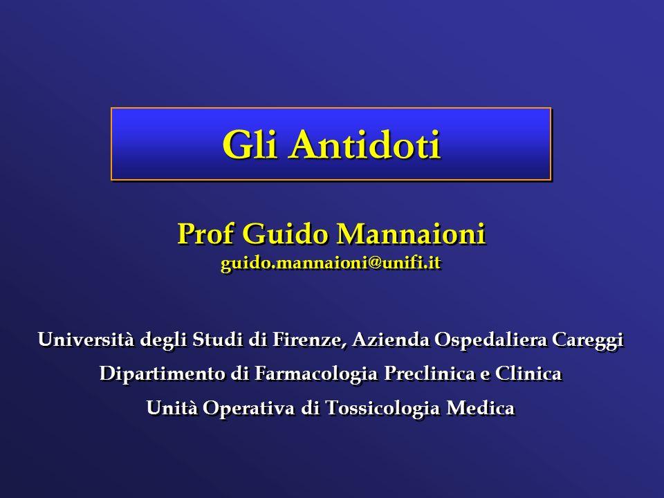 Gli Antidoti Prof Guido Mannaioni