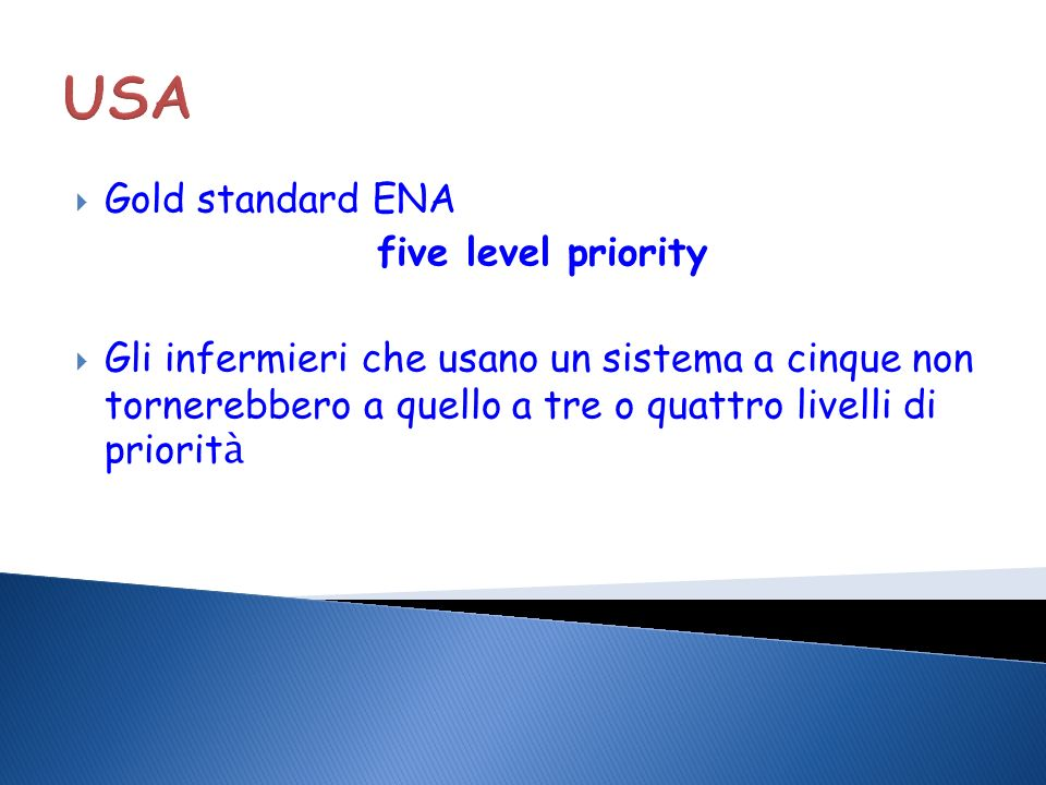 USA Gold standard ENA five level priority