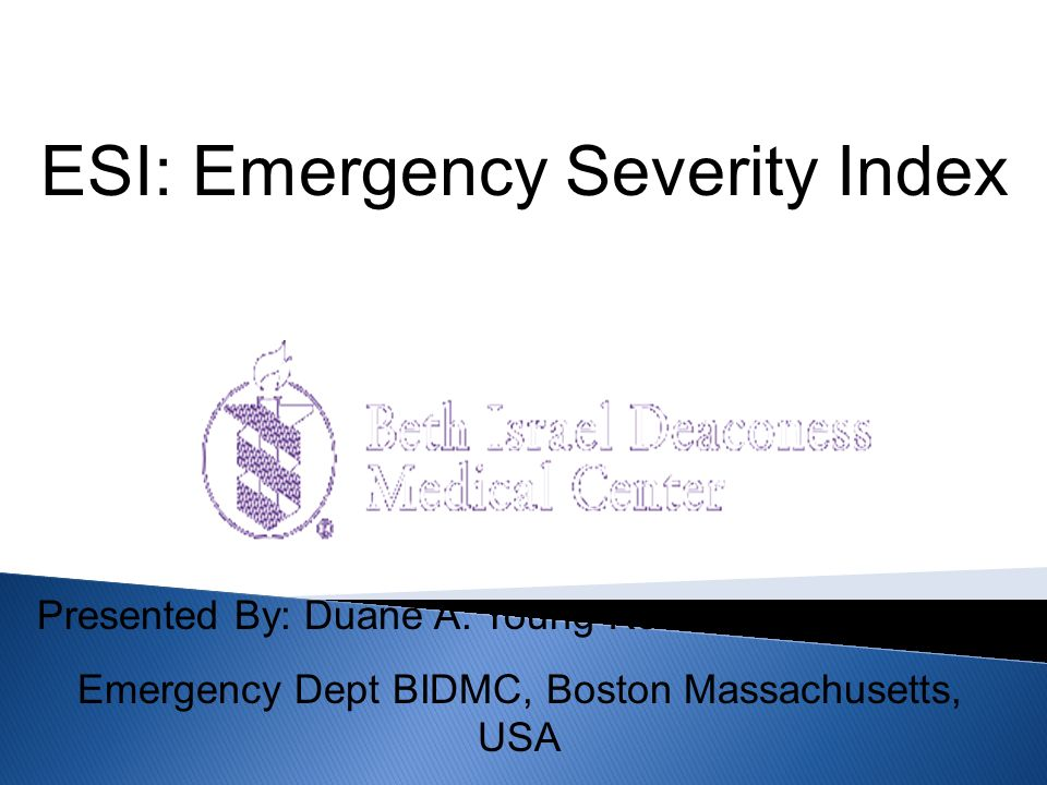 ESI: Emergency Severity Index